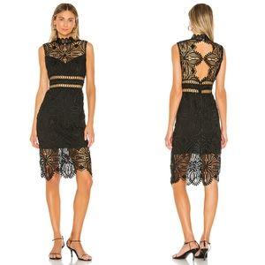 NWOT Saylor Siren black lace dress sz L